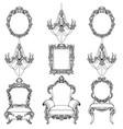 rich baroque rococo furniture and frames set vector image vector image