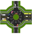 Road infographics Road interchange roundabouts vector image vector image