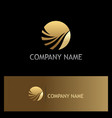round abstract wave gold logo vector image vector image