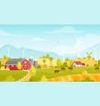 rural landscape with farm vector image