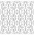 seamless pattern of overlapping hexagons with vector image vector image