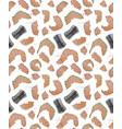 seamless pattern with pencil shavings realistic vector image