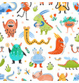 seamless pattern with strange charming fantastic vector image vector image