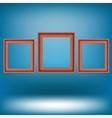 Set of Red Frames vector image