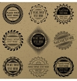set vintage signs and labels vector image