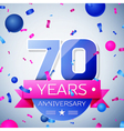 Seventy years anniversary celebration on grey vector image vector image