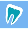 silhouette of a healthy tooth design flat vector image