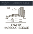 Sydney Harbour Bridg vector image vector image