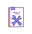 technical literature rgb color icon vector image
