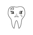 teeth bad cry icon vector image