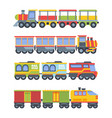 toy trains set colorful game steam locomotive vector image vector image