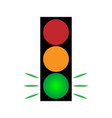 traffic light green 104 vector image vector image