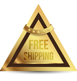 Triangles gold tag free shipping vector image