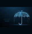 umbrella rain protection vector image