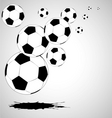 vector abstract soccer background vector image vector image