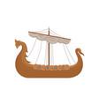 viking scandinavian draccar norman ship sailing vector image