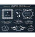 Vintage black frames ornament set element decor vector image vector image