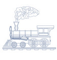 Vintage steam locomotive logo design