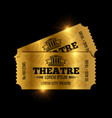 vintage theatre tickets template vector image