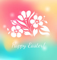 White floral ornament on colorful background vector image