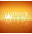 Emblem or logo for wedding studios vector image