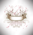 A floral banner in subdued colors vector image vector image