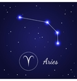 Aries Zodiac Sign Stars on the Cosmic Sky vector image