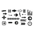 arrow icon set simple style vector image