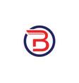 b letter icon design vector image vector image