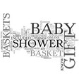 baby shower gift idea text word cloud concept vector image vector image