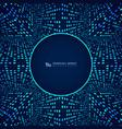 blue futuristic modern technology dot pattern vector image vector image