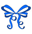 blue ribbon bow vector image vector image