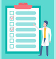 board with goals doctor and target clinic vector image