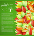 botanical light autumn poster vector image