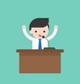 businessman or politician speaking on podium vector image