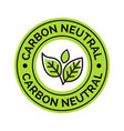 carbon neutral icon stamp co2 energy monoxide vector image vector image