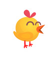 cartoon cute yellow chick vector image vector image