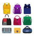 cartoon women handbags fashion vector image