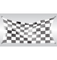 checkered flag flying wave white design race vector image vector image