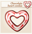 chocolate heart cookie vector image vector image