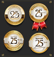 collection of elegant golden anniversary vector image vector image