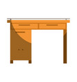 colorful graphic of wooden home desk without vector image vector image