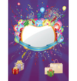 Colorful holiday background vector image vector image
