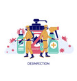 coronavirus cleaning and disinfection services vector image