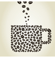 Cup from coffee grains vector image vector image