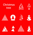 different christmas tree vector image vector image