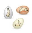 easter eggs with bunnies vector image