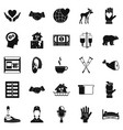 endowment icons set simple style vector image vector image