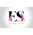 es vibrant creative leter logo design vector image vector image