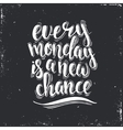 Every Monday is a new Chance Hand drawn vector image vector image